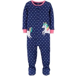 Carter's Polka Dot Unicorn Footed Pajamas